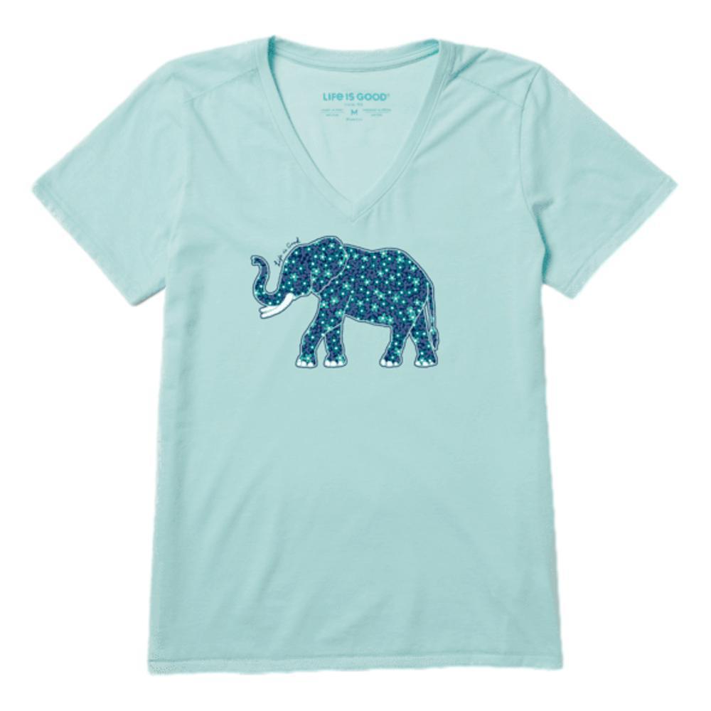 Life is Good Women's Flower Elephant Cool Vee BERMUDABLU