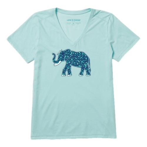 Life is Good Women's Flower Elephant Cool Vee Bermudablu