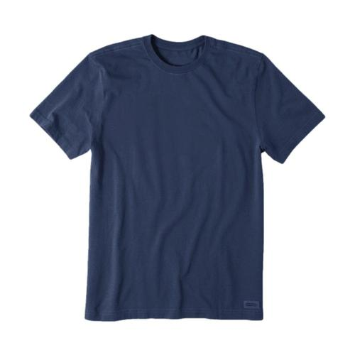 Life is Good Men's Solid Crusher Tee Darkestblu