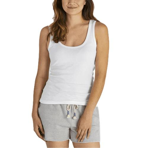 Life is Good Women's Soft & Simple Fitted Tank Cloudwhite