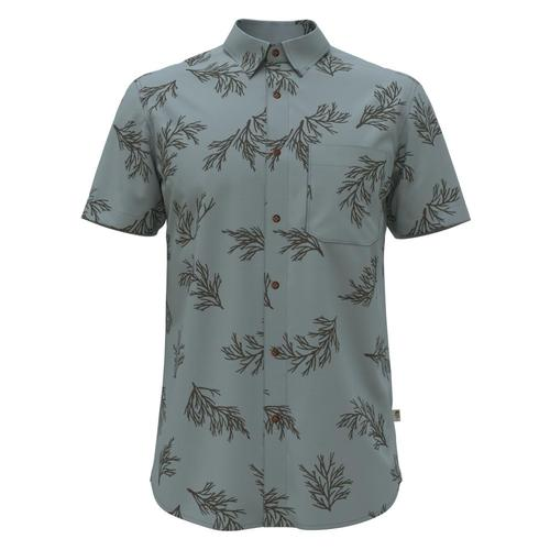 The North Face Men's Short Sleeve Baytrail Pattern Shirt Blue_02x