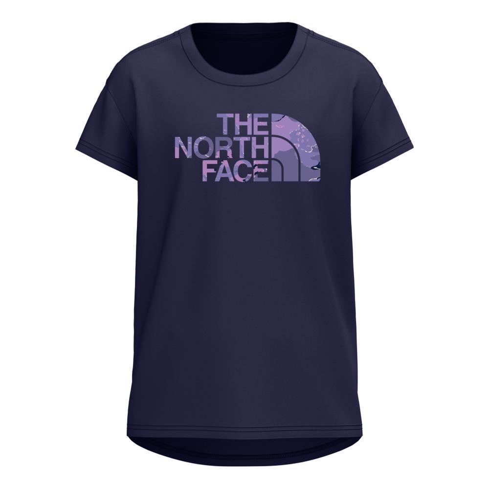 The North Face Girls Short Sleeve On Mountain Tee TNFNAVYL4U