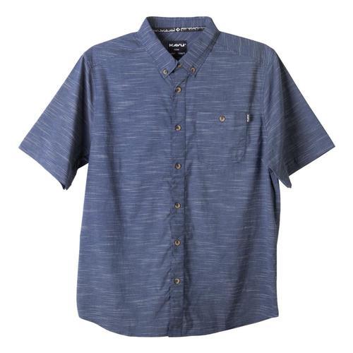 KAVU Men's Welland Short Sleeve Shirt Ink_1272