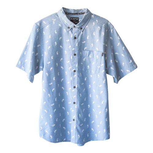 KAVU Men's Juan Short Sleeve Shirt Narwhal_1494