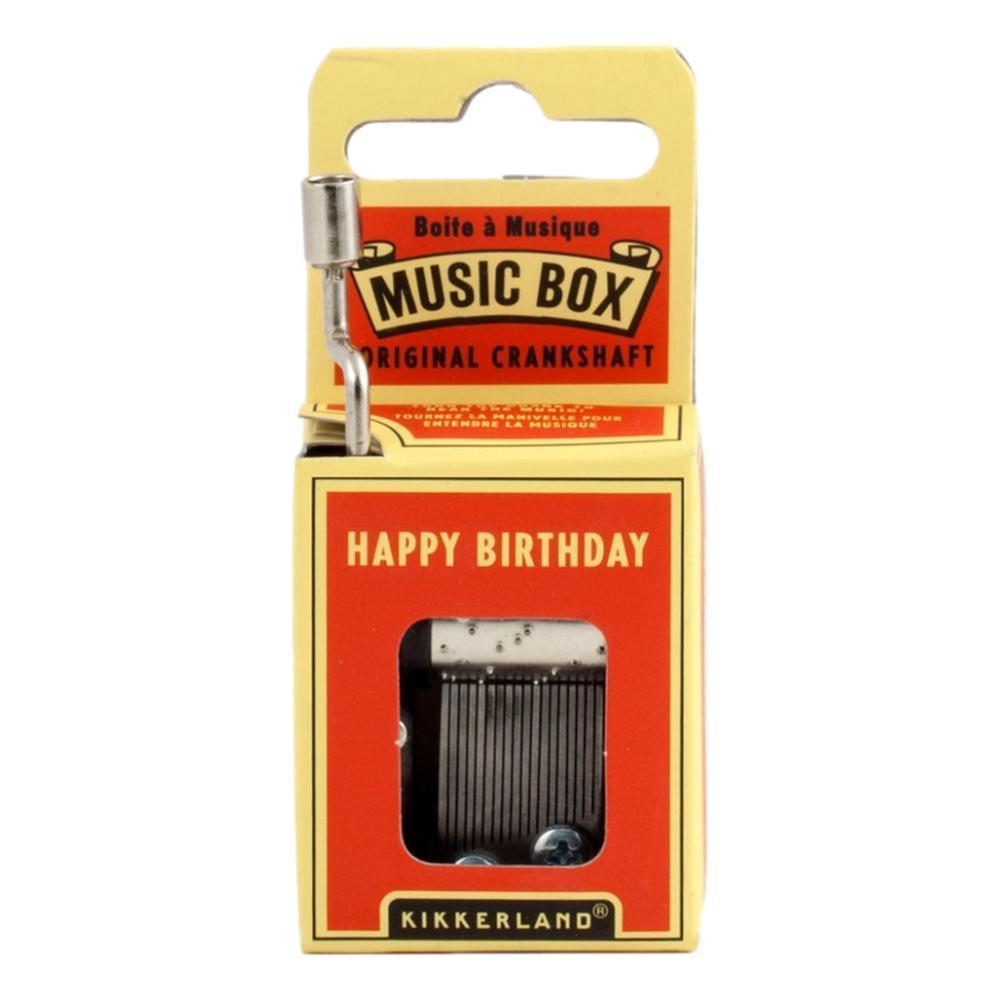 Kikkerland Happy Birthday Crank Music Box