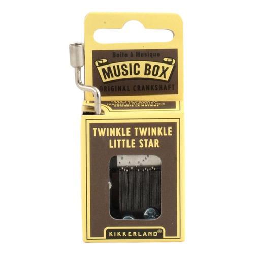 Kikkerland Twinkle Twinkle Little Star Crank Music Box