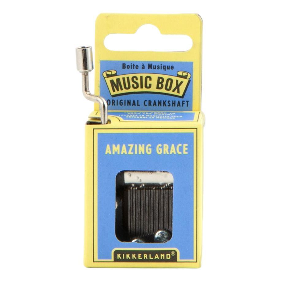 Kikkerland Amazing Grace Crank Music Box