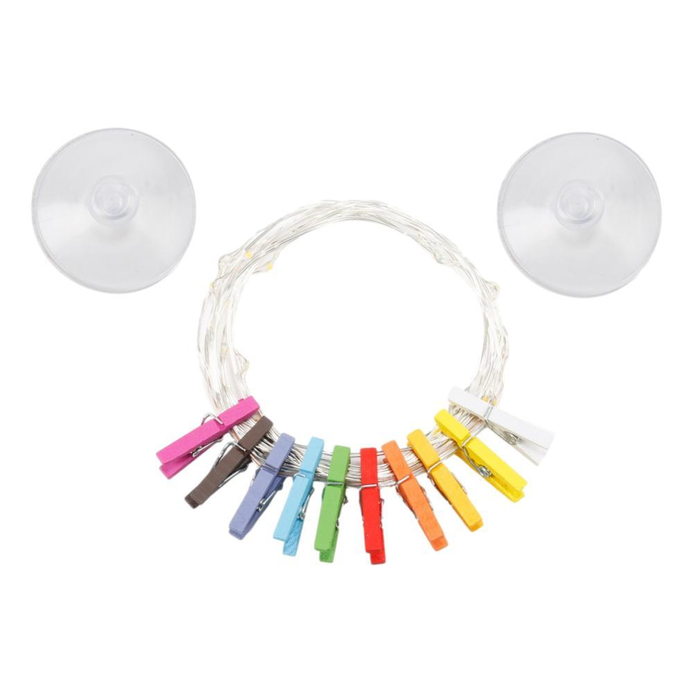 Kikkerland Mini Clothespin String Lights