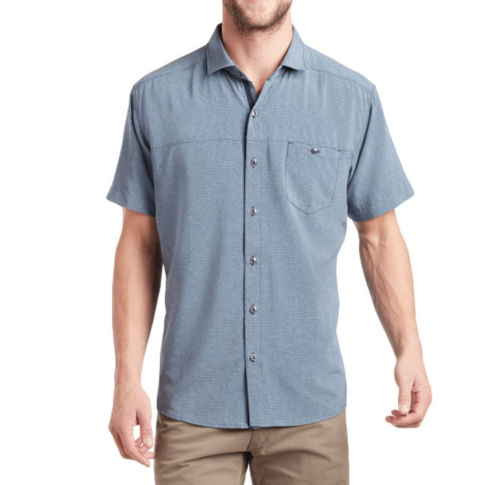 KUHL Men's Optimizr Short Sleeve Shirt BLUE_BLG