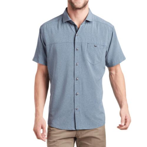 KUHL Men's Optimizr Short Sleeve Shirt Blue_blg