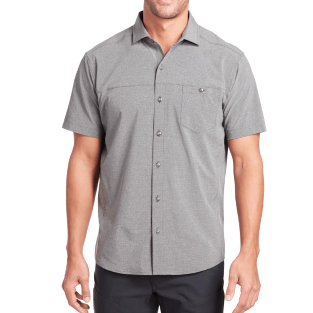 KUHL Men's Optimizr Short Sleeve Shirt GREY_ANG