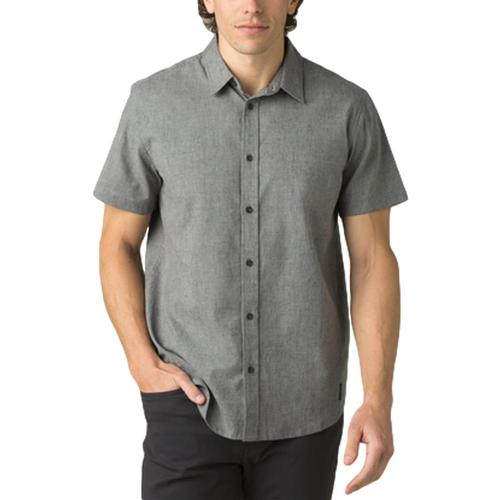 prAna Men's Grixson Shirt - Slim Gravel