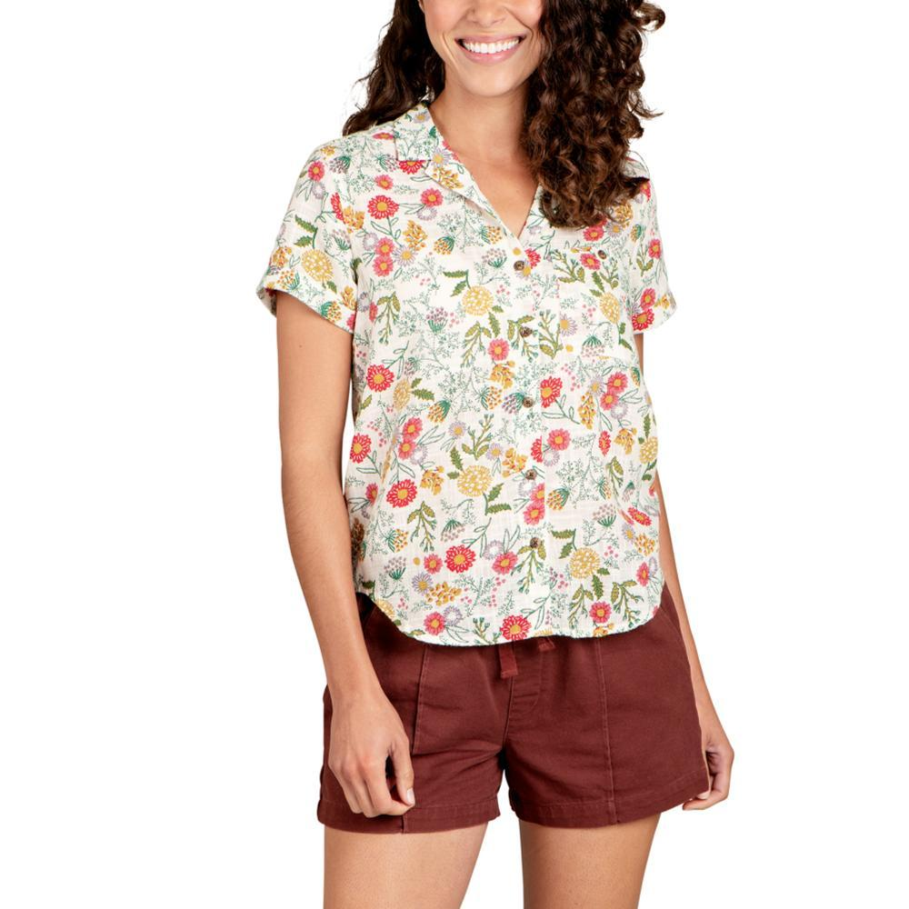 Toad&Co Women's Camp Cove Short Sleeve Shirt BOTANICAL_269
