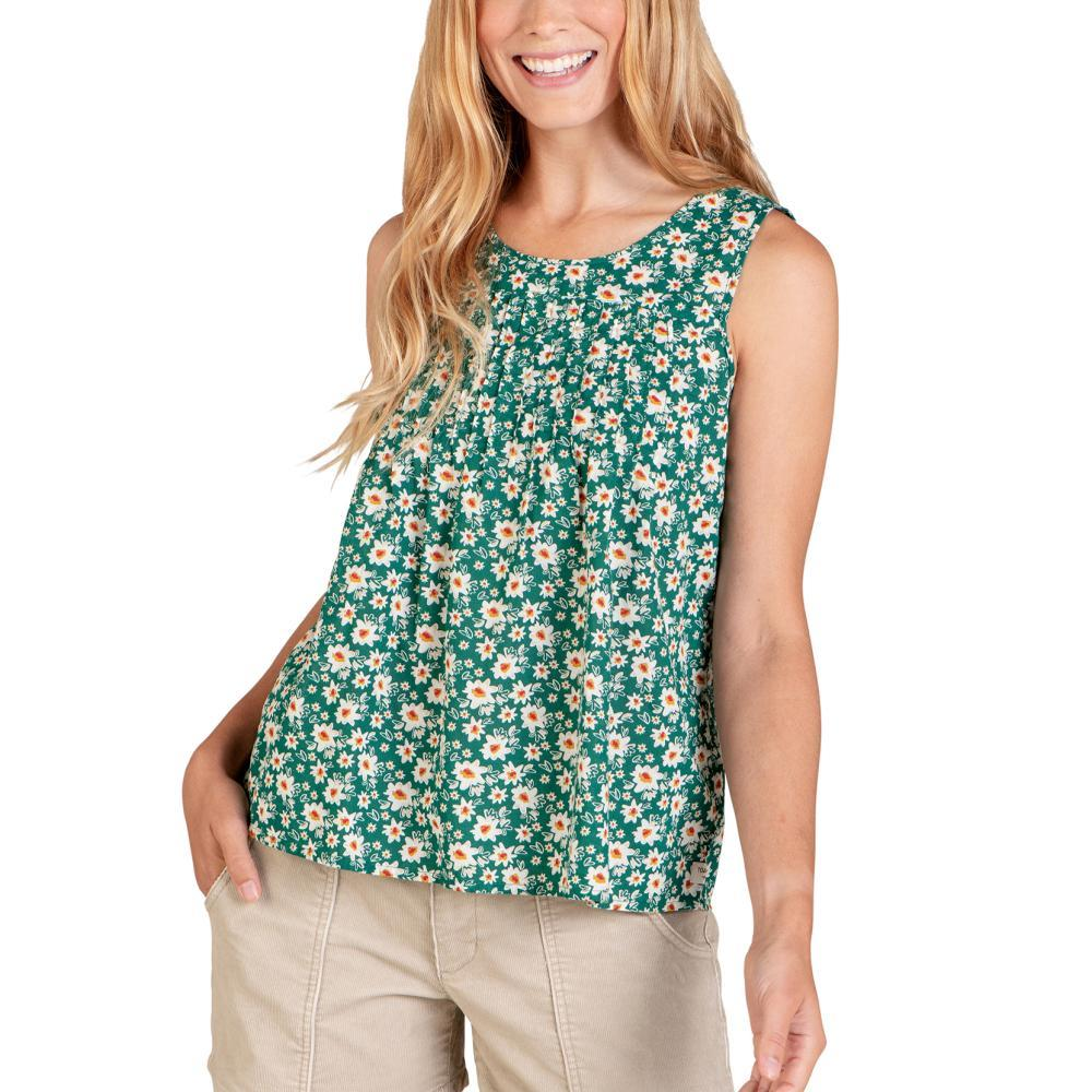 Toad&Co Women's Willet Pintuck Tank DAISYPRINT_359