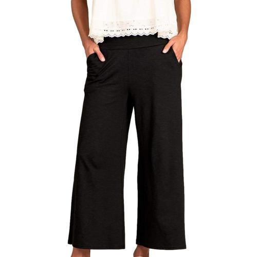 Toad&Co Women's Chaka Wide Leg Pull On Pants Black_100