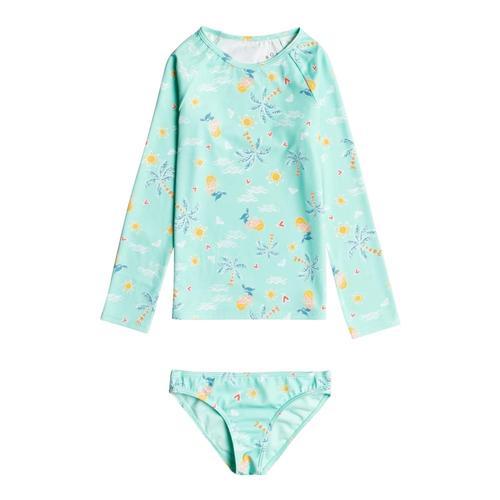 Roxy Girls Mermaid Spirit Long Sleeve Swimsuit Set Bchgls_gcz6