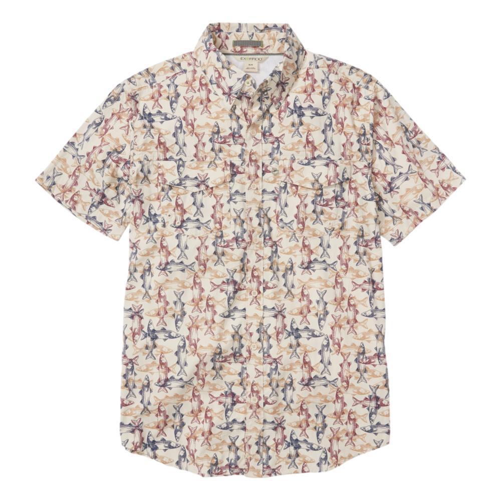 ExOfficio Men's Estacado Short Sleeve Shirt BONE_1996