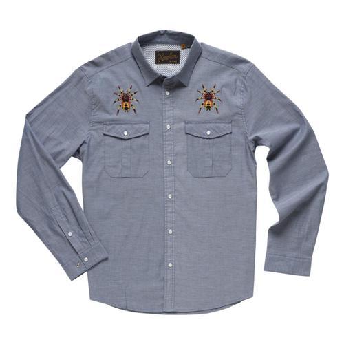 Howler Brothers Men's Gaucho Snapshirt Indigo_ind