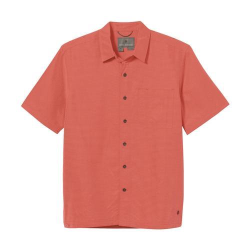 Royal Robbins Men's Desert Pucker Dry Short Sleeve Shirt Guava_539