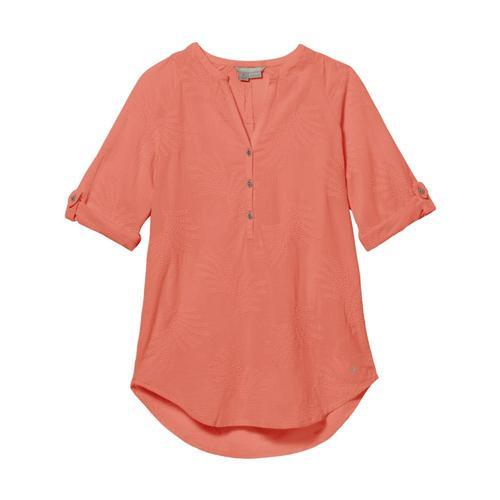 Royal Robbins Women's Oasis Tunic II 3/4 Sleeve Ltcoral_837