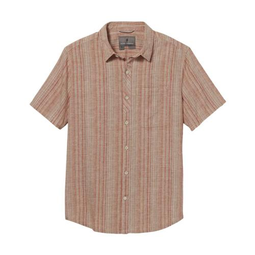 Royal Robbins Men's Hempline Vertical Short Sleeve Shirt Wood_509