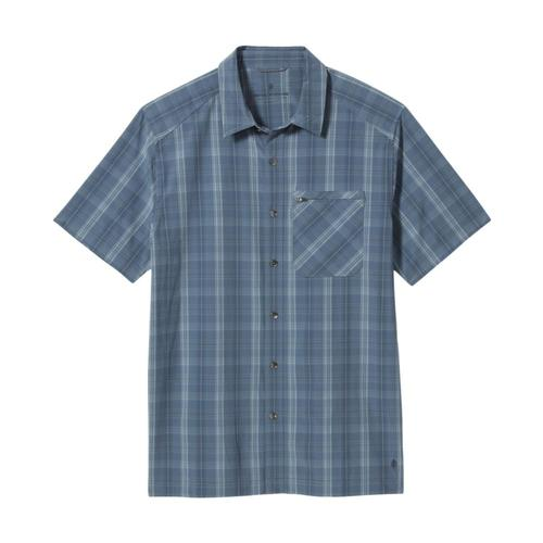Royal Robbins Men's Spotless Plaid Short Sleeve Shirt Sea_762