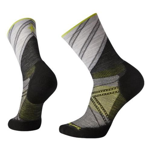 Smartwool Unisex PhD Run Light Elite Pattern Crew Socks Charco_003