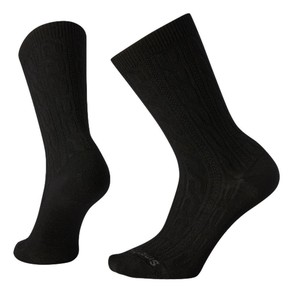 Smartwool Women's Cable Crew Socks BLACK_001