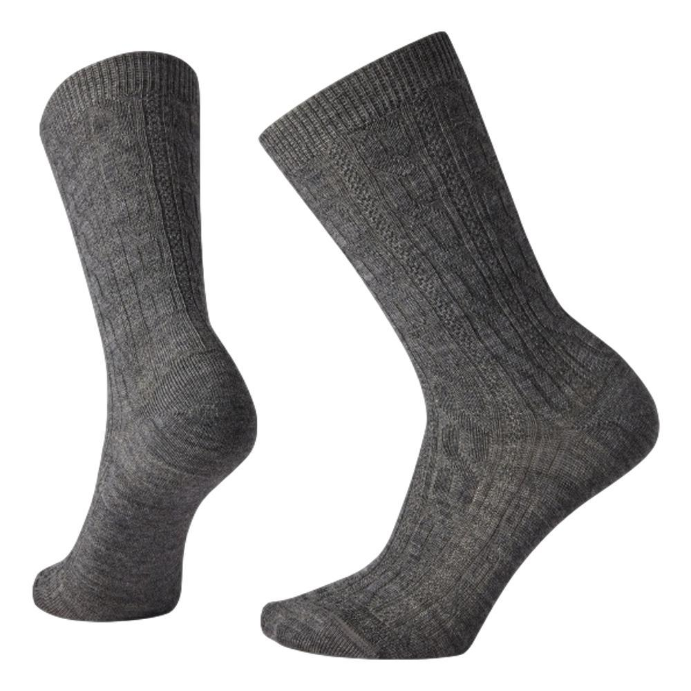Smartwool Women's Cable Crew Socks MDGRAY_052