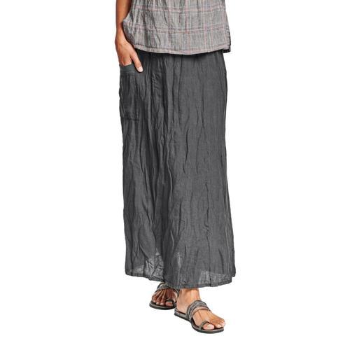 FLAX Women's South Side Skirt Faddedblk