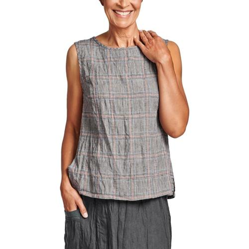 FLAX Women's Roadie Top Plaid