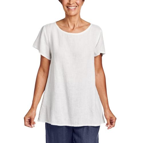 FLAX Women's Sun Tee White
