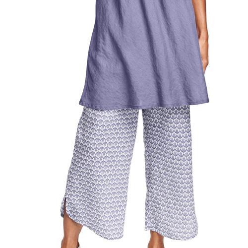 FLAX Women's Shirttail Flood Pants Lilacregal