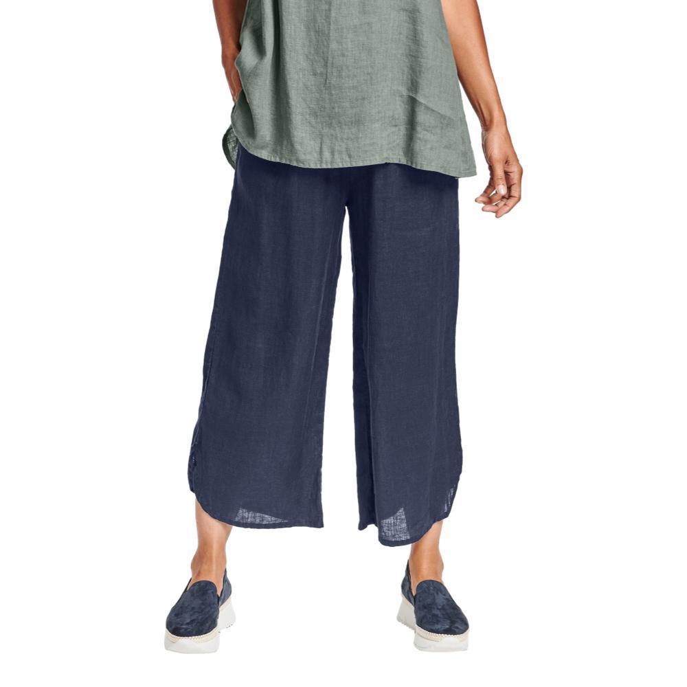 FLAX Women's Shirttail Flood Pants NAVY
