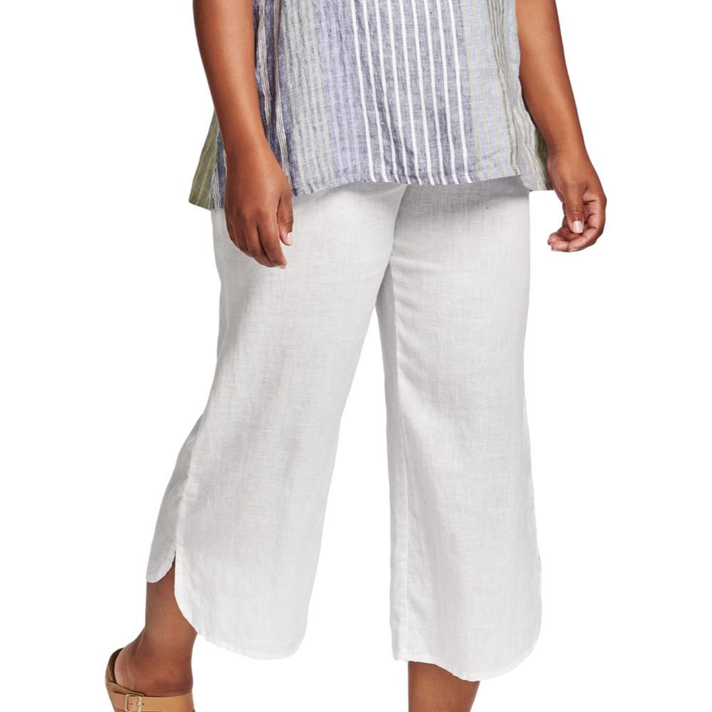 FLAX Women's Shirttail Flood Pants WHITE