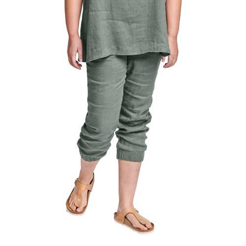 FLAX Women's Joggers Pants Thyme