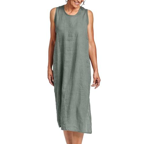 FLAX Women's Sideslit Slipster Thyme