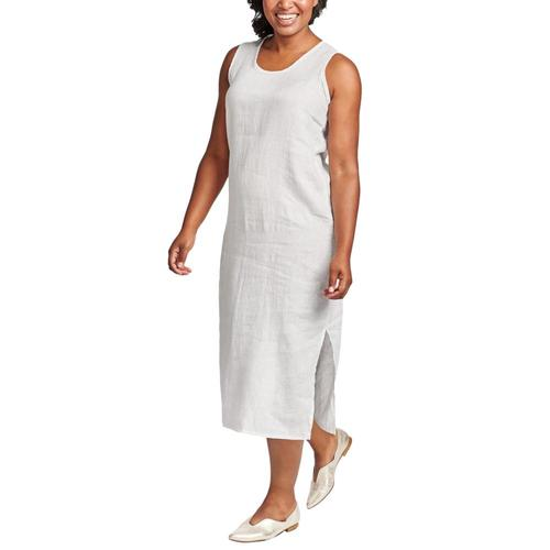 FLAX Women's Sideslit Slipster White