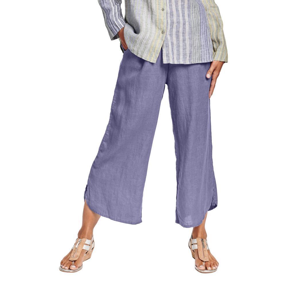 FLAX Women's Generous Shirttail Flood Pants LILAC