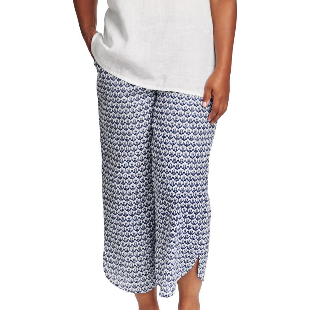 FLAX Women's Generous Shirttail Flood Pants NAVYREGAL