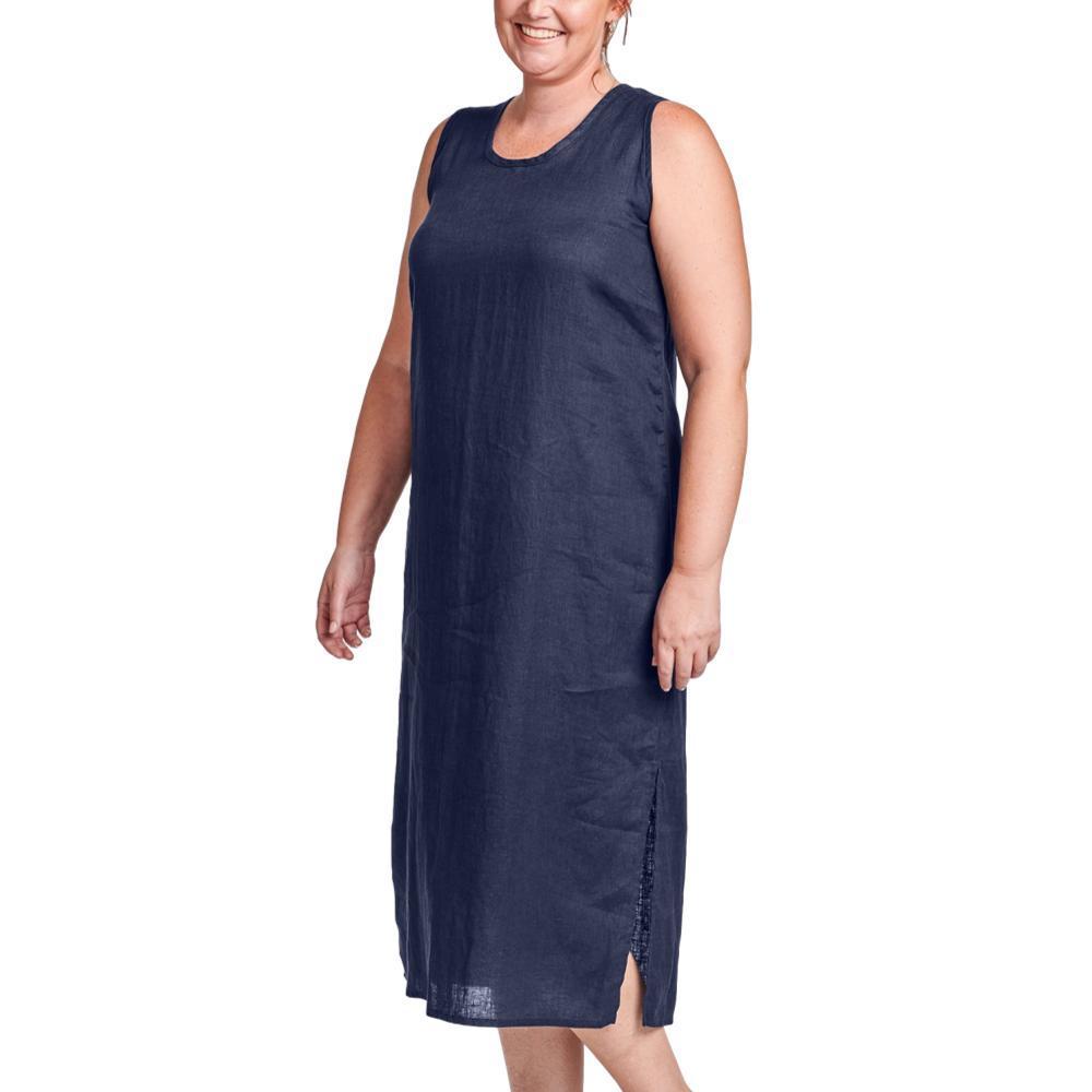 FLAX Women's Generous Sideslit Slipster NAVY