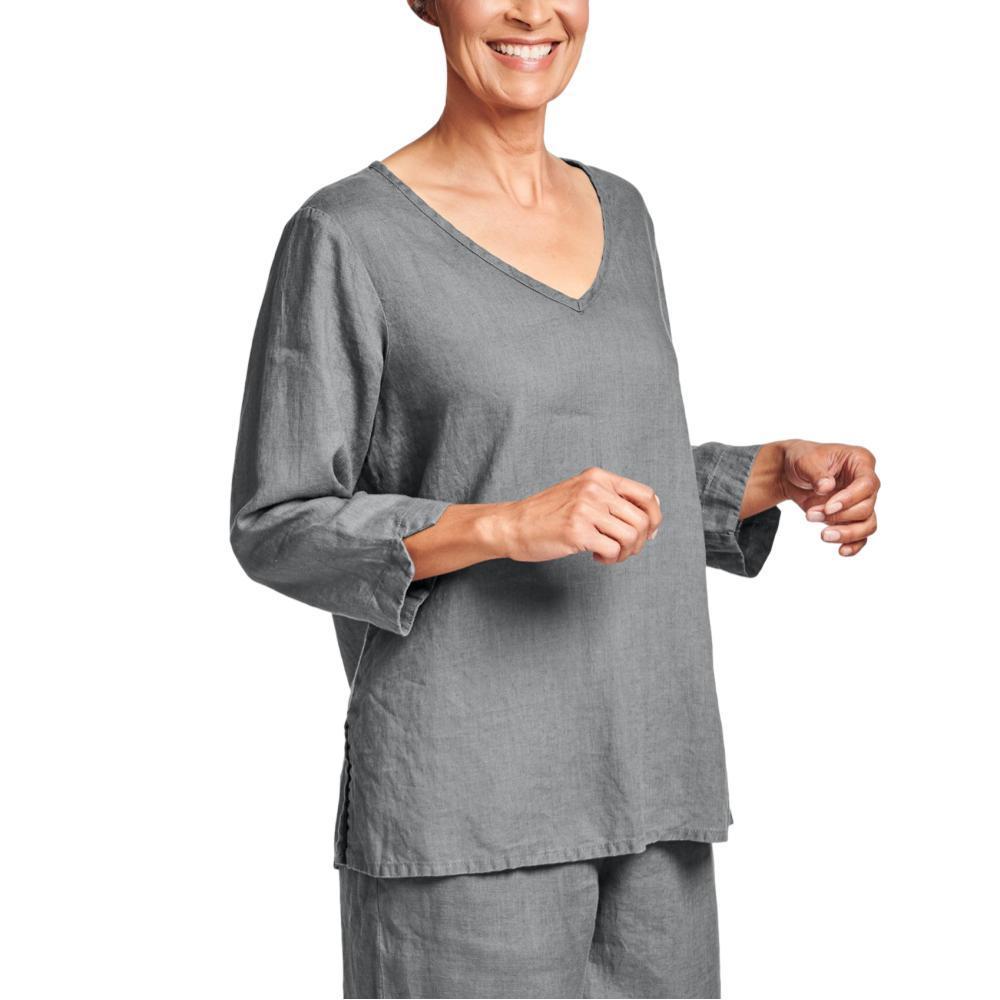 FLAX Women's V Pullover Shirt CASTLEROCK