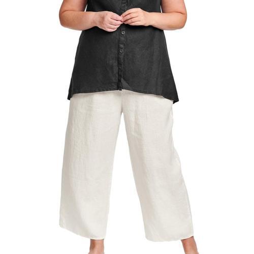 FLAX Women's Generous Floods Pants Cream