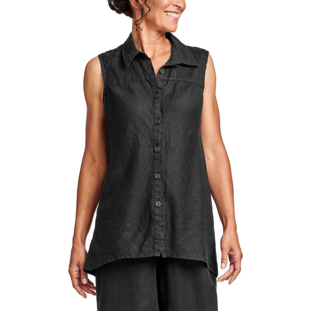 FLAX Women's Generous Skyline Blouse BLACK
