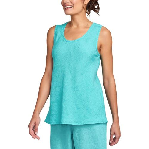 FLAX Women's Sleeveless Bias Top Tealyearn
