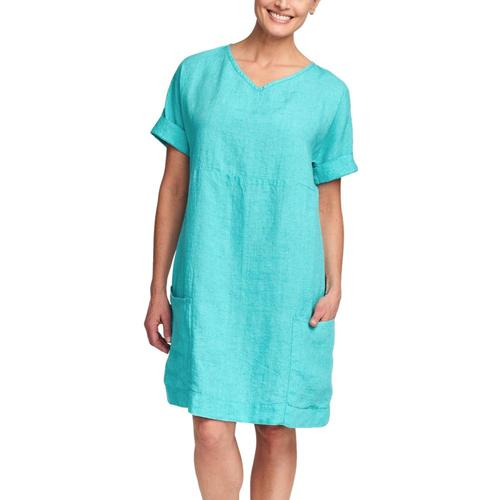 FLAX Women's Beachcomber Dress Tealyarn