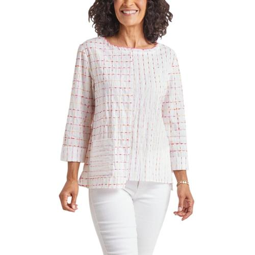 Habitat Women's Mixed Boatneck Pullover Coral