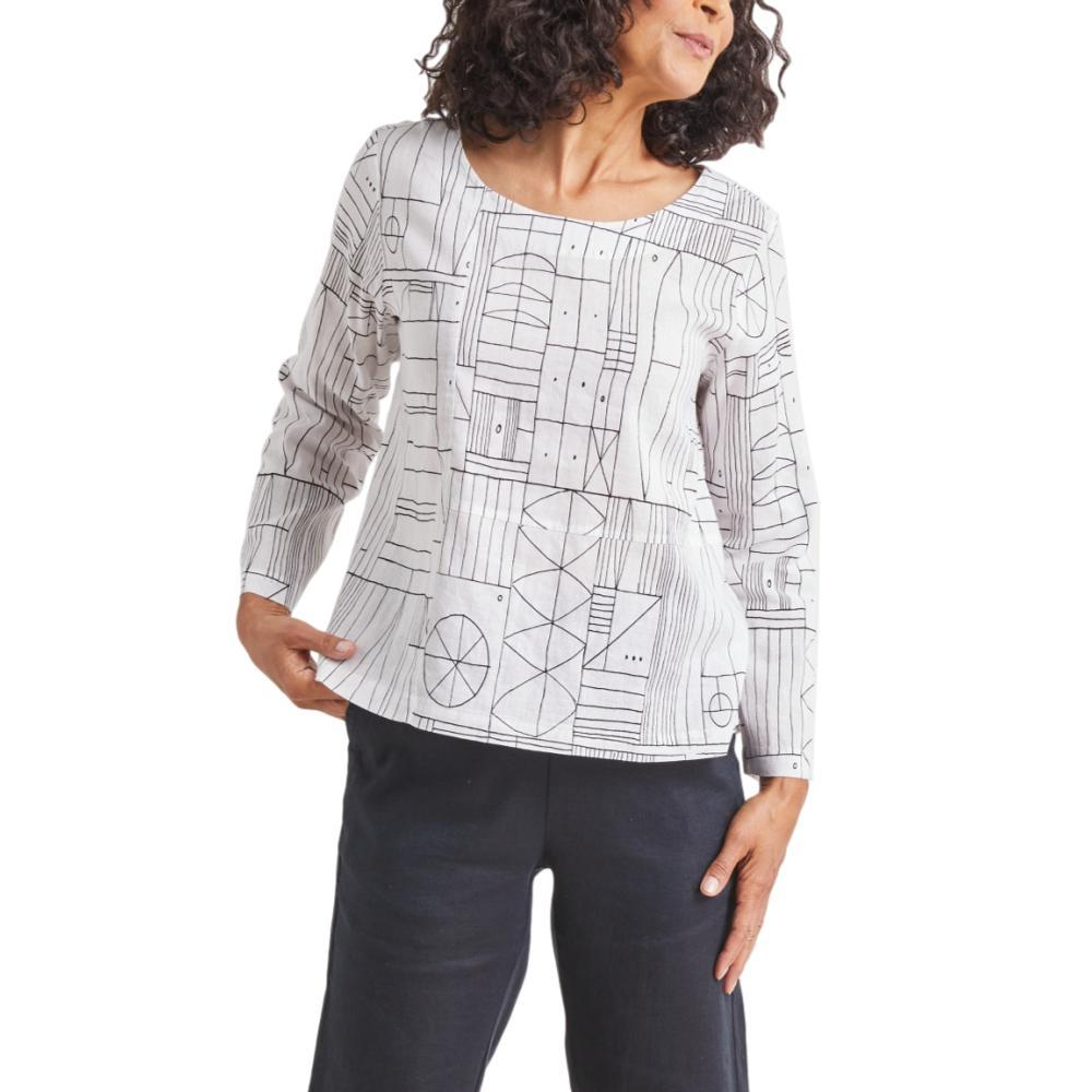 Habitat Women's Button Back Pullover WHITE