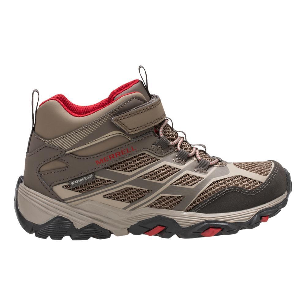 Merrell Kids Moab Mid Waterproof Hiking Boots BOULDER