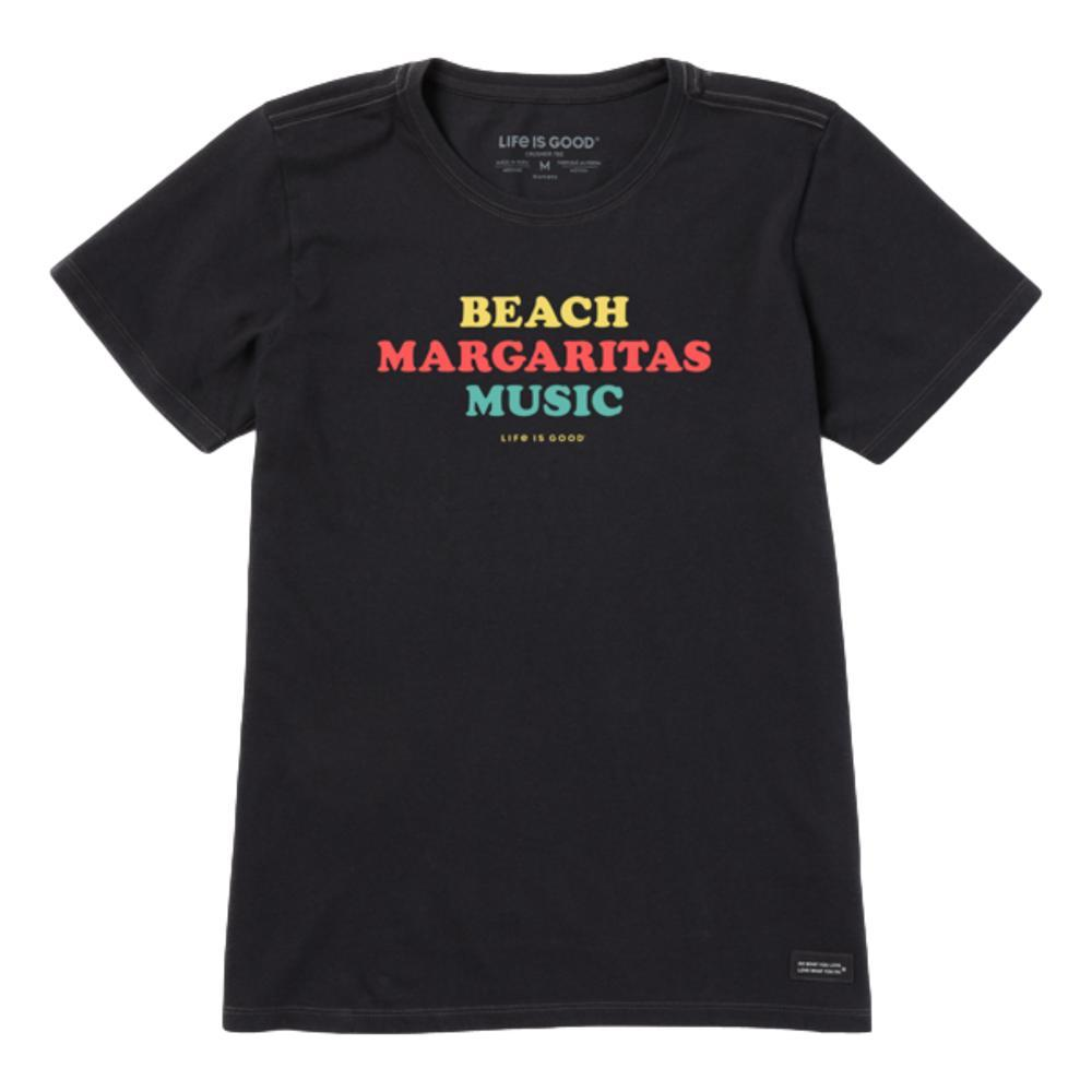 Life is Good Women's Beach Margaritas Music Crusher Tee JETBLACK